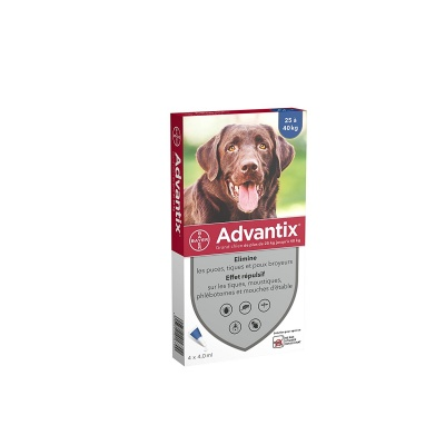 BAYER ADVANTIX SPOT-ON PER CANI 25-40 KG. 4 PIPETTE