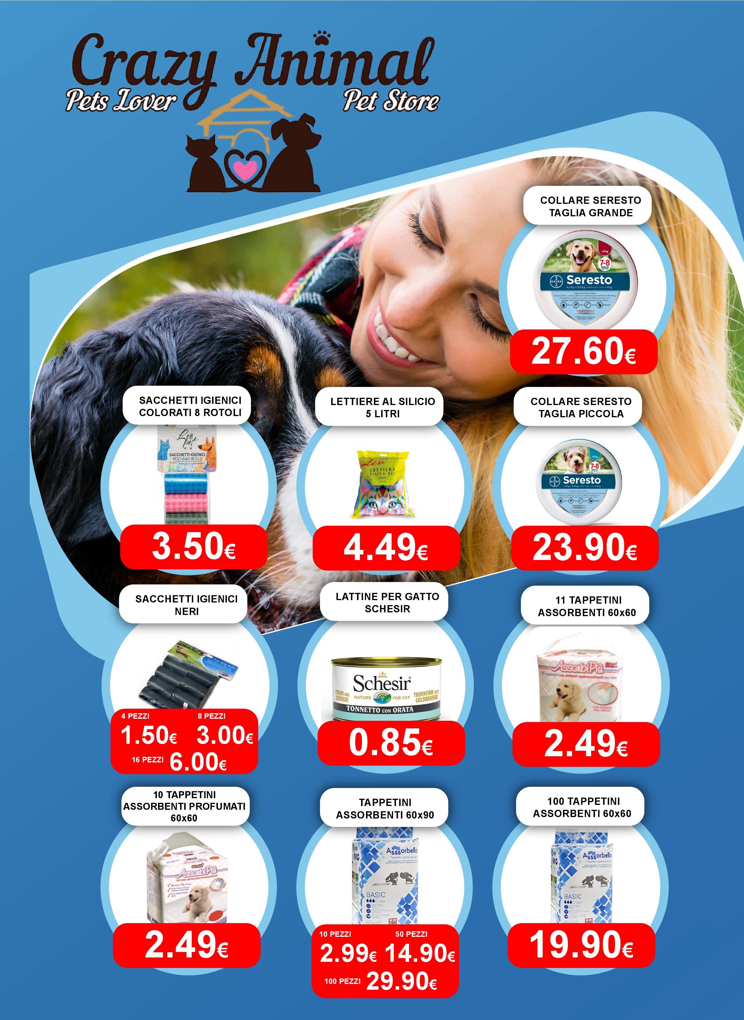 volantino crazy animal pet shop pagina 1