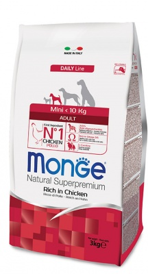 MONGE DAILY LINE ADULT MINI RICCO DI POLLO 3 KG.