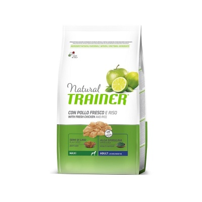 NATURAL TRAINER MAXI ADULT POLLO FRESCO & RISO 12 KG.