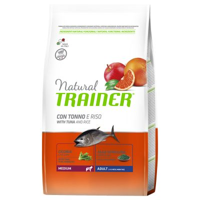 NATURAL TRAINER MEDIUM ADULT TONNO & RISO 12 KG.