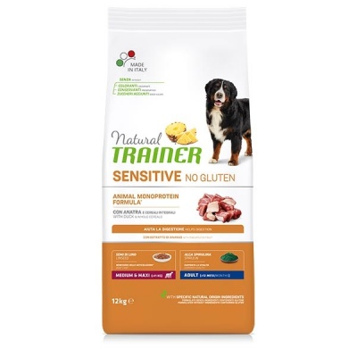 NATURAL TRAINER SENSITIVE ADULT MEDIUM/MAXI ANATRA 12 KG.