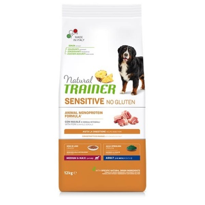 NATURAL TRAINER SENSITIVE ADULT MEDIUM/MAXI MAIALE 12 KG.