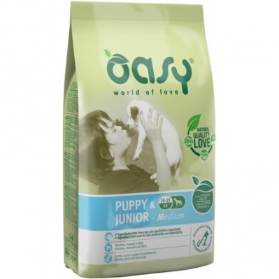 OASY DOG PUPPY & JUNIOR MEDIUM POLLO 3 KG.